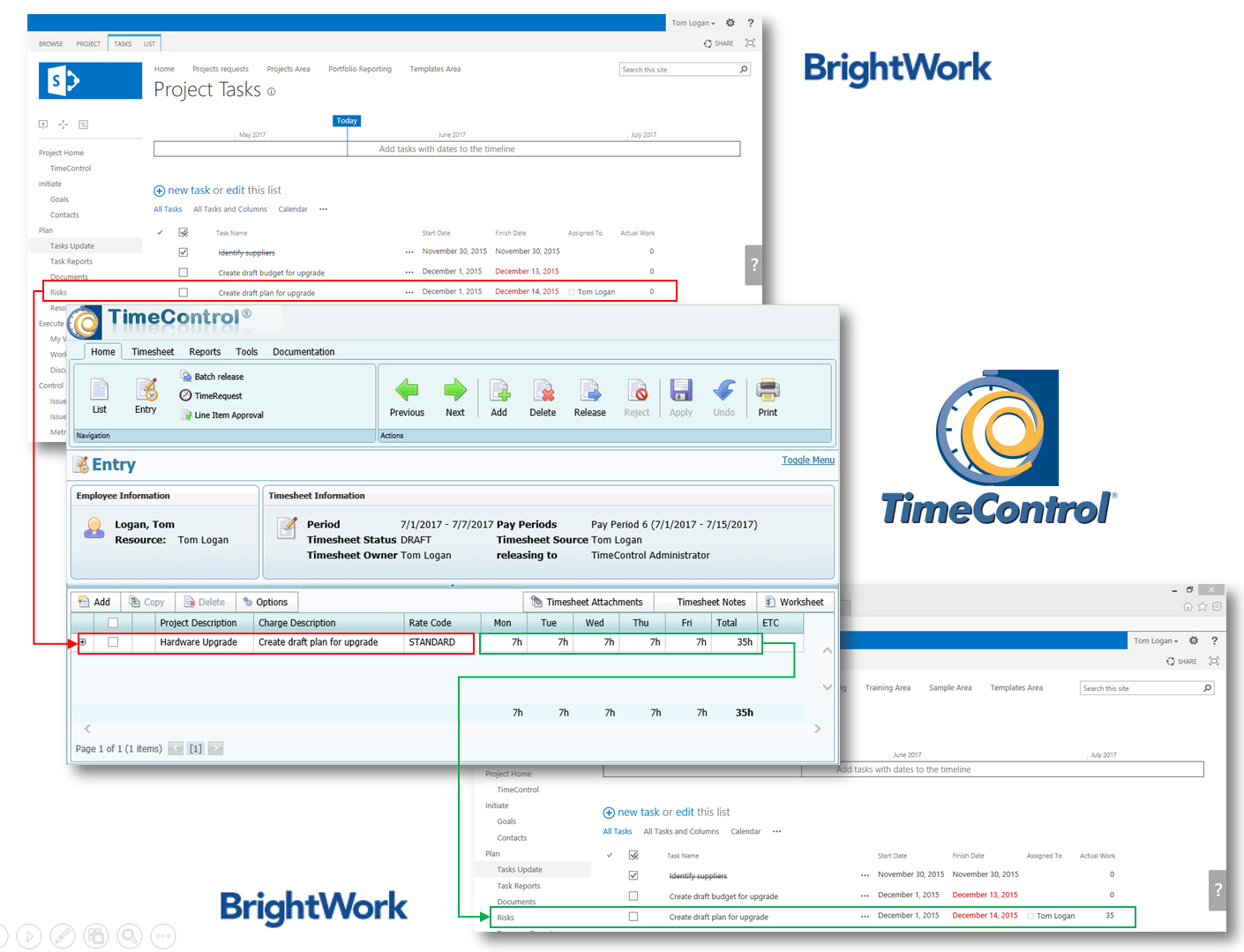 TimeControl and BrightWork