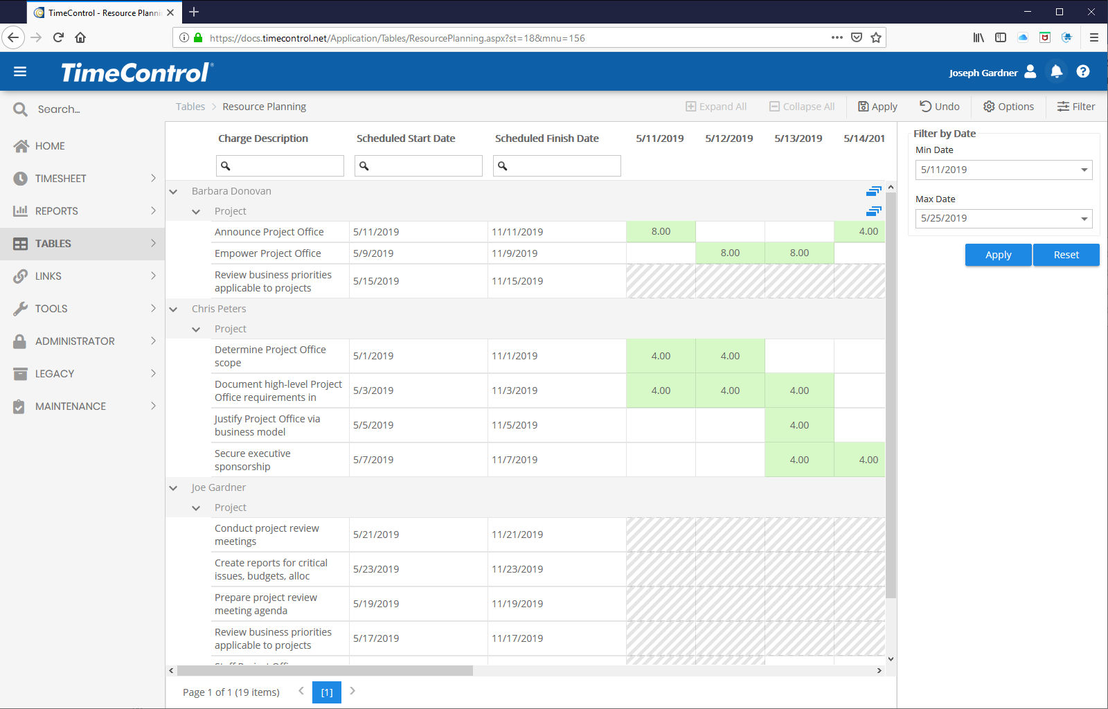 TimeControl | Web timesheets for Finance and Project Management